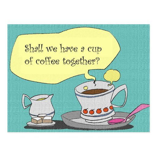 coffee? postcard