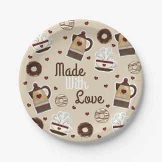 Coffee Pot and Cup Paper Plate