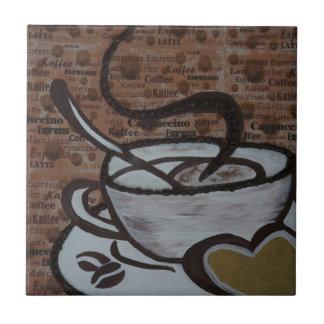 coffee pot ceramic tile