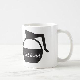 Coffee Pot Funny Pot Head Mug