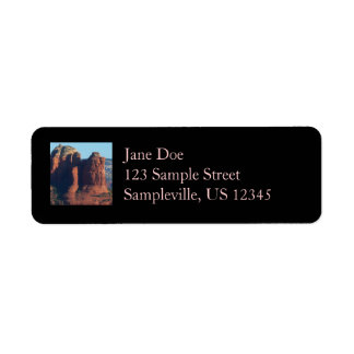 Coffee Pot Rock I in Sedona Arizona Return Address Label
