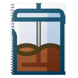 Coffee Pot Spiral Notebook