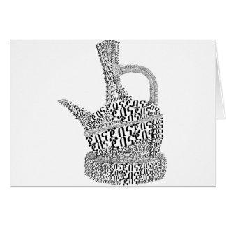 Coffee Pot Text Design Card