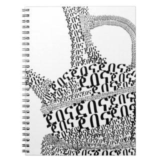 Coffee Pot Text Design Notebook