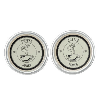 Coffee Power Cufflinks