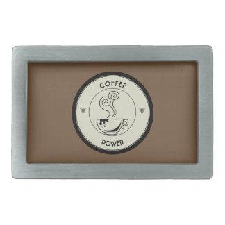 Coffee Power Rectangular Belt Buckle