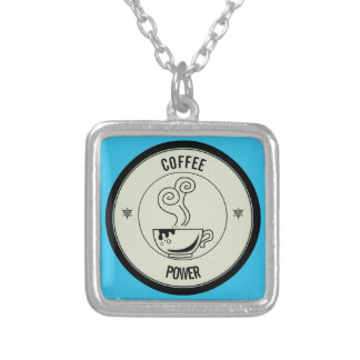Coffee Power Silver Plated Necklace