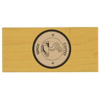 Coffee Power Wood USB Flash Drive