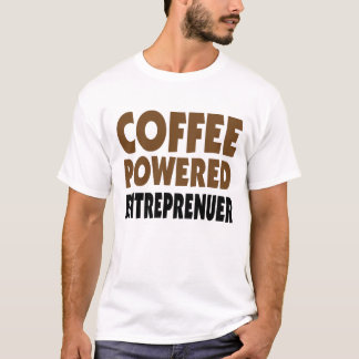 Coffee powered entrepreneur men's white tee shirt