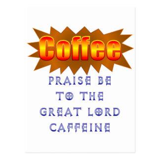 Coffee Praise Be Postcard