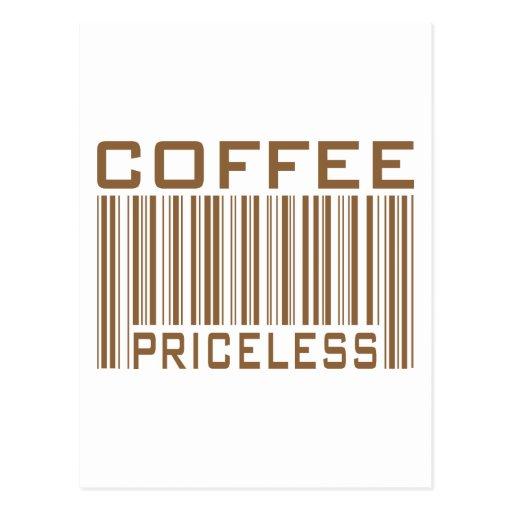 Coffee Priceless Bar Code Tees Gifts Postcard