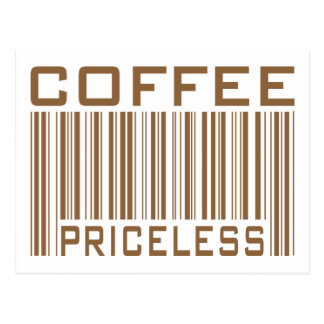 Coffee Priceless Bar Code Tees Gifts Postcards