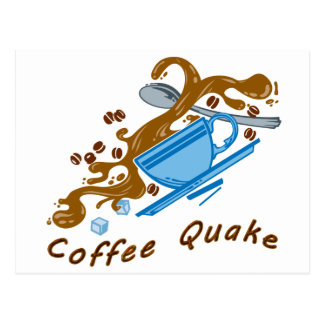 Coffee Quake Postcard