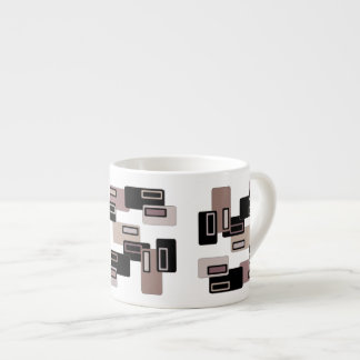 Coffee Retro Rectangles Espresso Mug
