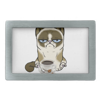Coffee Right Meow Rectangular Belt Buckle
