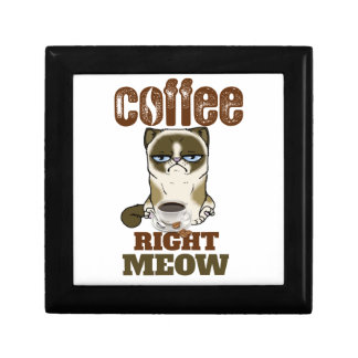 Coffee Right Meow Small Square Gift Box