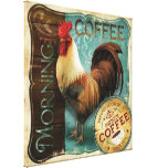 Coffee Rooster Canvas Print
