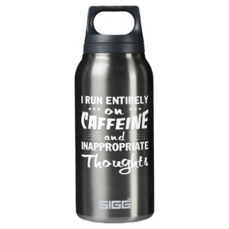 Coffee Run Caffeine Inappropriate Thoughts Insulated Water Bottle