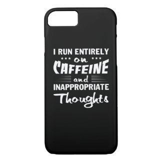 Coffee Run Caffeine Inappropriate Thoughts iPhone 8/7 Case