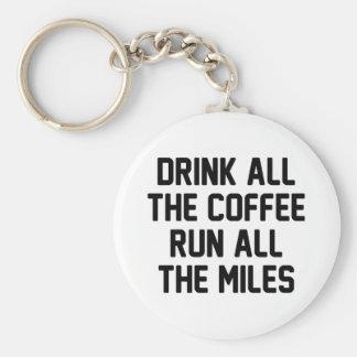 Coffee & Run Key Ring