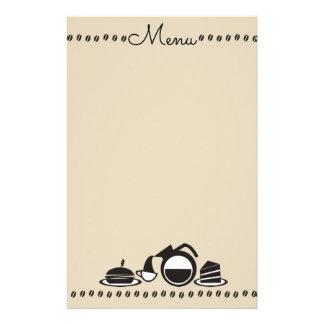 Coffee sandwich cake brunch lunch menu stationery
