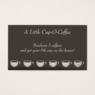 Coffee Savings Loyalty Card