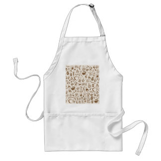 Coffee Scribble Adult Apron