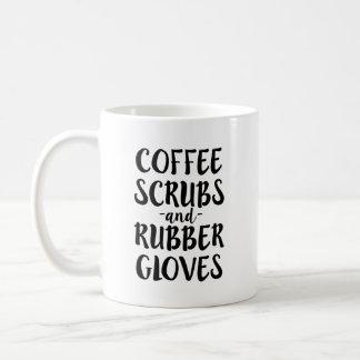 Coffee Scrubs and Rubber Gloves Nurse coffee mug