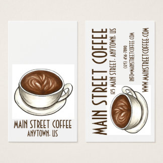 Coffee Seattle Latte Coffee Shop Cafe Barista Cup Business Card