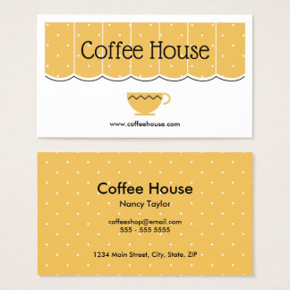 Coffee Shop Cafe Canopy Cup Simple Business Card