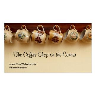Coffee Shop Cafe English Tea Room Business Cards
