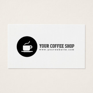 Coffee Shop Coffee Cup Cafe Minimalist Business Card
