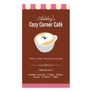 Coffee Shop - Cozy Cornet Café Cafe Pack Of Standard Business Cards