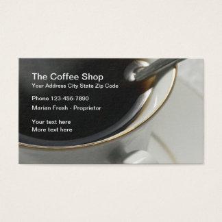 Coffee Shop Design Business Card