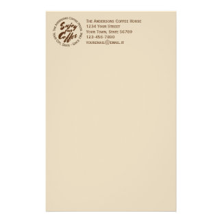 """Coffee Shop """"Enjoy Our Coffee"""" Business Stationery"""