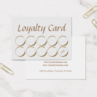 Coffee Shop Loyalty Card - coffee stain