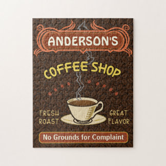 Coffee Shop Mug Create Your Own Personalized Brown Puzzles
