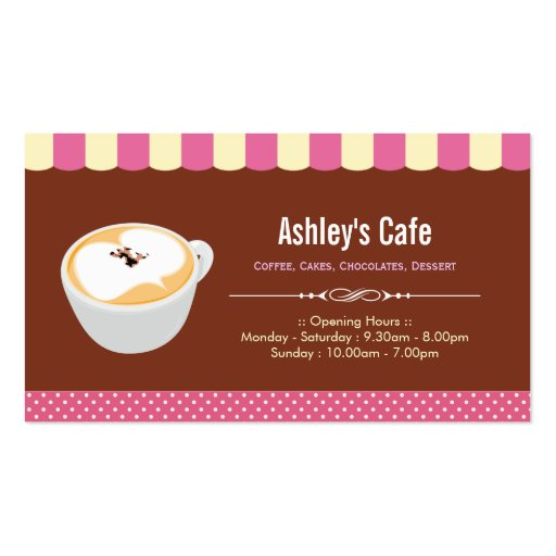 Coffee Shop - Sweet Café Business Card Templates