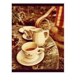 Coffee Shop Table Postcard