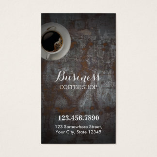 Coffee Shop Vintage Rusty Background Loyalty Punch