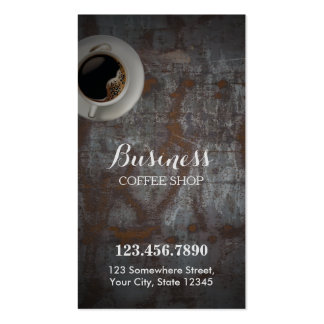 Coffee Shop Vintage Rusty Background Loyalty Punch Pack Of Standard Business Cards