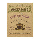 Coffee Shop with Cup Create Your Own Personalised Wood Wall Art