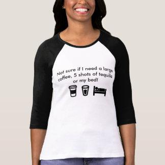 Coffee, Shot, Bed Baseball Jersey T-Shirt