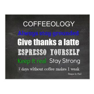 Coffee Sign Coffeeology Postcard