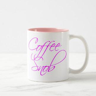 Coffee Snob Two-Tone Coffee Mug