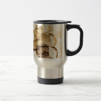 Coffee spills - Cool hand-made coffee spill design Stainless Steel Travel Mug