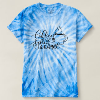 Coffee Spirit Animal Caffeine Lover Tie Dye Shirt