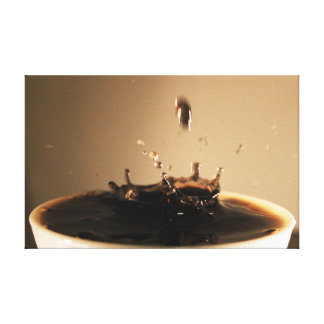 Coffee Splashes Canvas Print