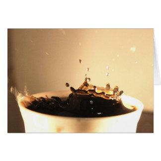 Coffee Splashes Card