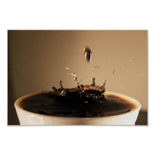 Coffee Splashes Poster